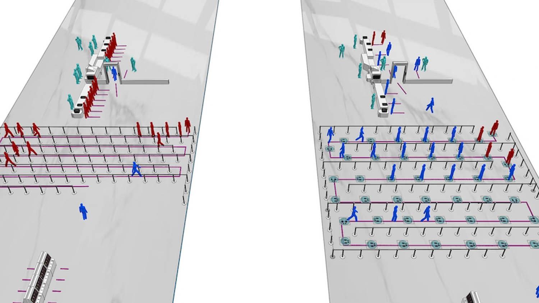 Massmotion airport pedestrian simulation