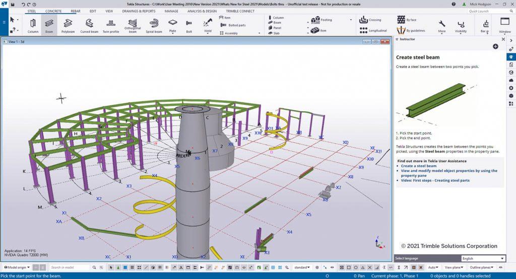 Tekla Structures 2021