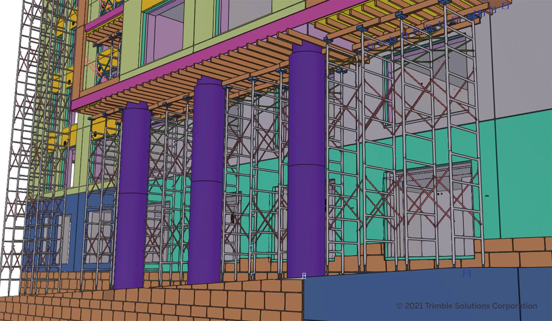 Tekla Structures 2021 - scaffolding