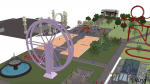 Theme Park - MassMotion crowd simulation software