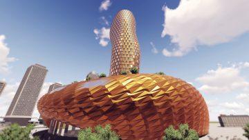 Parametric tower: Tal Friedman architecture using Foldstruct