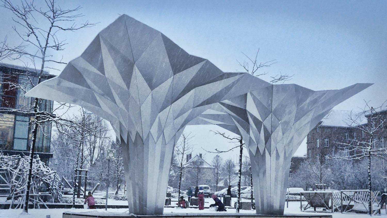 Foldstruct pavilion