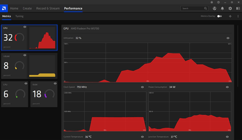Radeon Pro driver - performance tuning