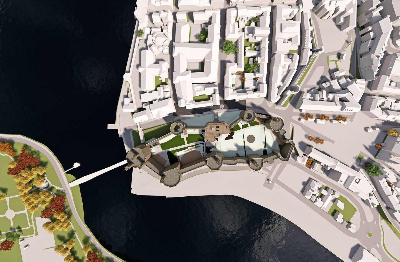 Bluesky 3D models for Caernarfon Castle