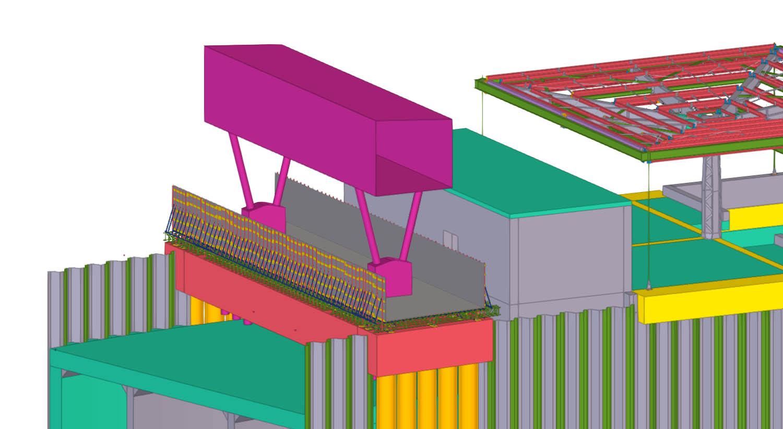 Luton Central Temp footbridge model