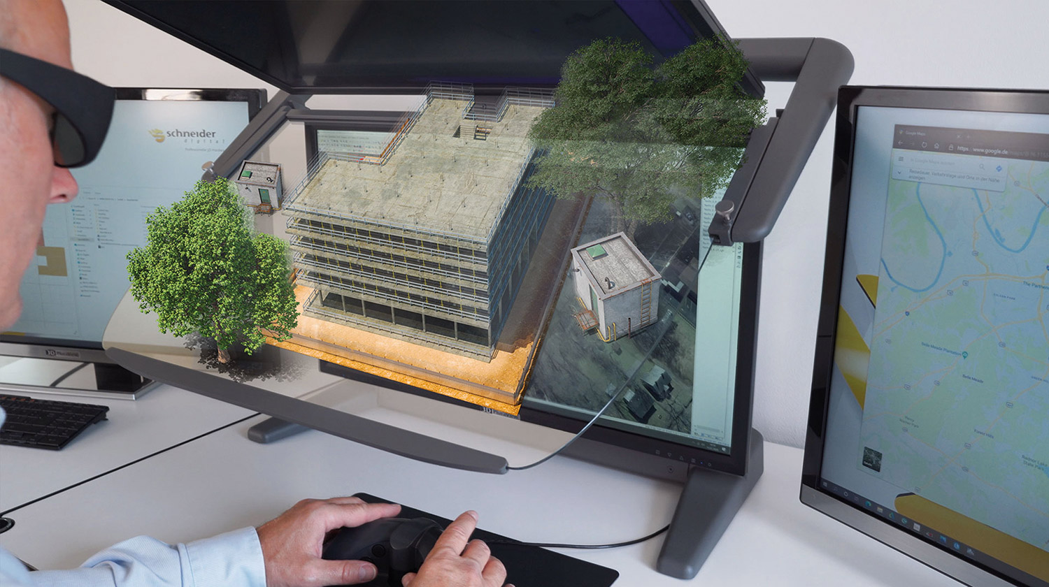 3D PluraView monitor with Elitecad