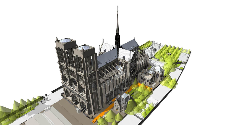 Notre-Dame Revit BIM