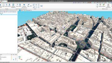 El programa Open BIM Site permite definir las condiciones iniciales del emplazamiento de un proyecto, administrar mapas reales, parcelas y edificios