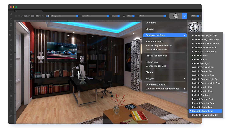 Vectorworks 2022 - Maxon Redshift